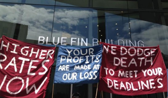 blue fin protest