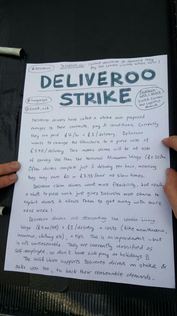 strike leaflet